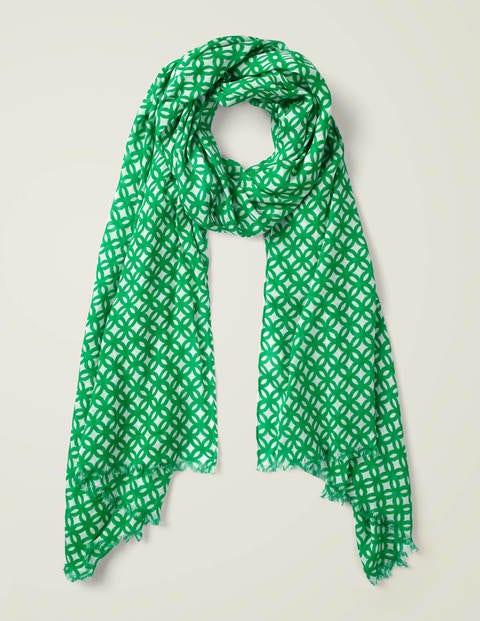 Printed Scarf - Rich Emerald Link
