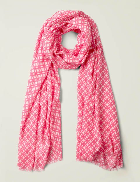 Printed Scarf - Bright Camellia Link