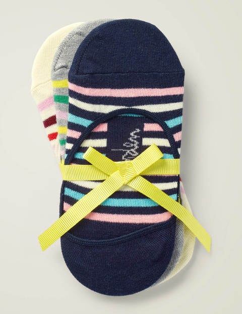 Three Pack Secret Socks - Stripe Multi