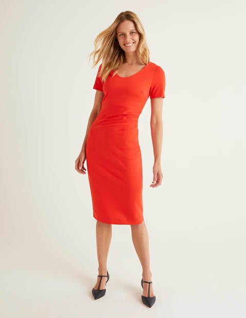 Honor Ponte Dress - Post Box Red