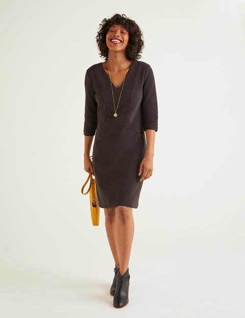 Bronte Ottoman Dress - Black