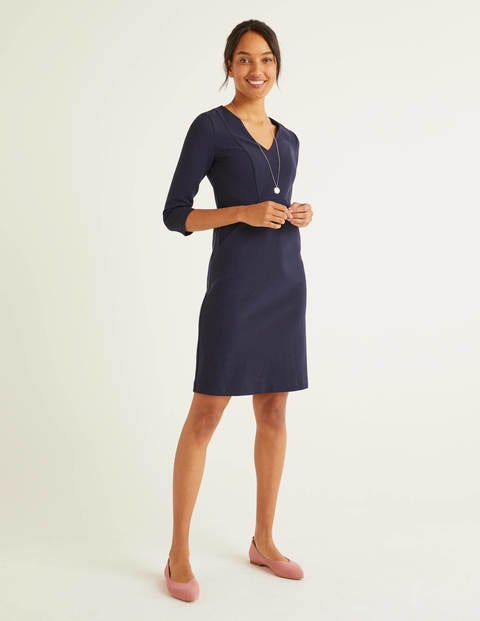 Bronte Ottoman Dress - Navy