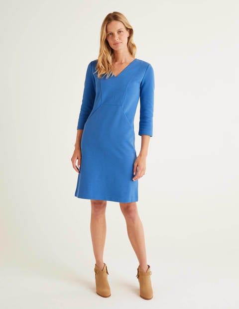Bronte Ottoman Dress - Sky Blue