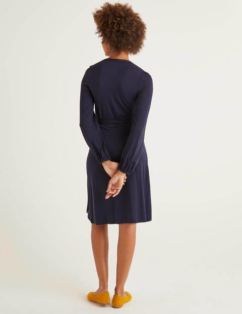 Elodie Jersey Wrap Dress Navy Boden Uk