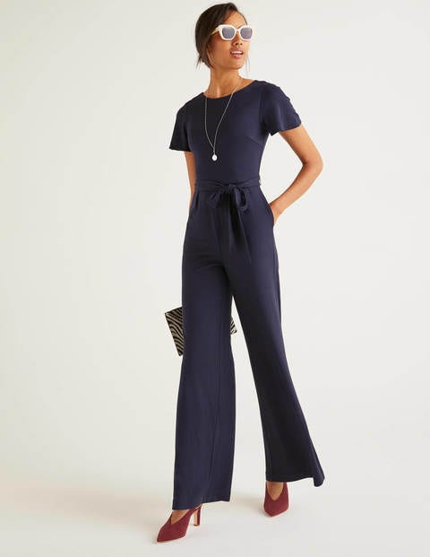 Camille Ponte Jumpsuit - Navy