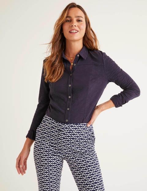 Tara Jersey Shirt - Navy