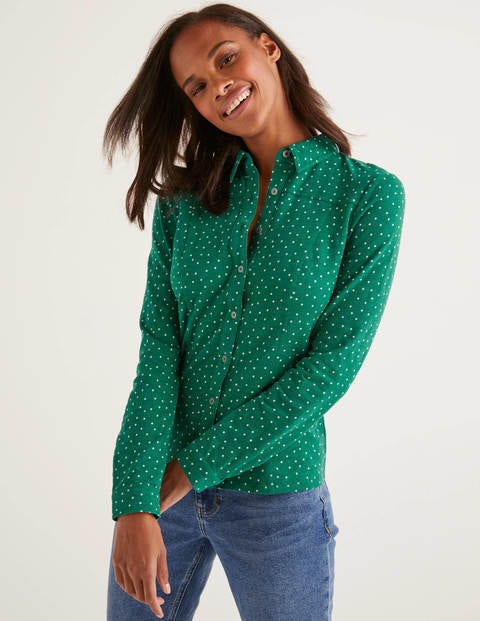 Tara Jersey Shirt - Forest, Polka Dot