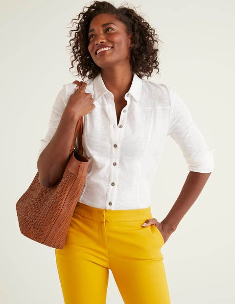 Tara Jersey Shirt - White