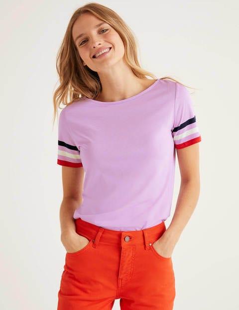 Short Sleeve Striped Cuff Tee - Rosebay Multi Cuff