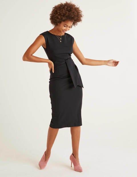 Jessica Ponte Dress - Black