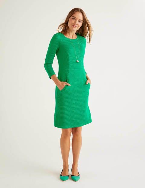 Agnes Jacquard Dress - Highland Green