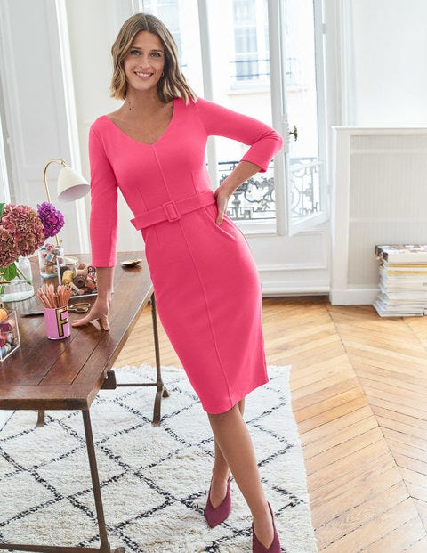 Margie Ottoman V-neck Dress