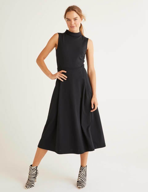 Miriam Ponte Midi Dress - Black