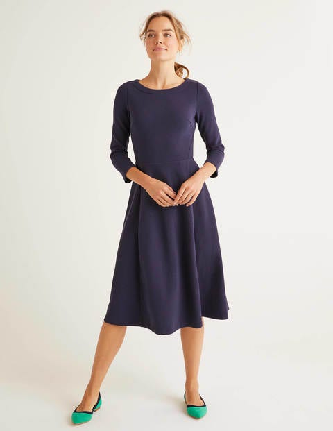 Maisy Ottoman Dress - Navy