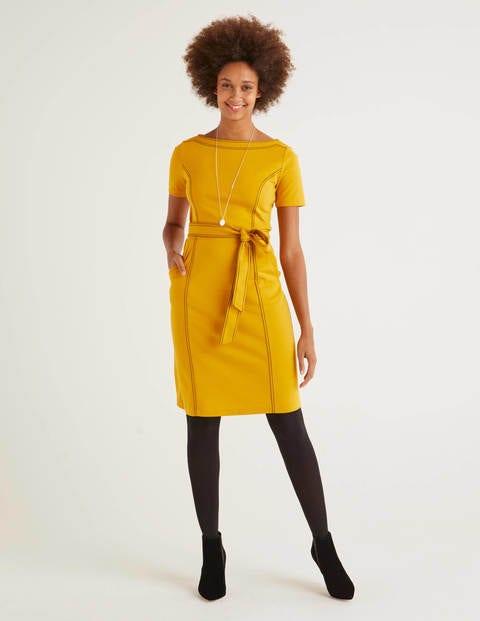 boden - Rebecca Ponte-Etuikleid Yellow Damen , Yellow