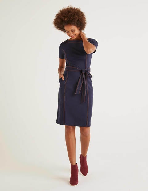 Rebecca Ponte Shift Dress - Navy