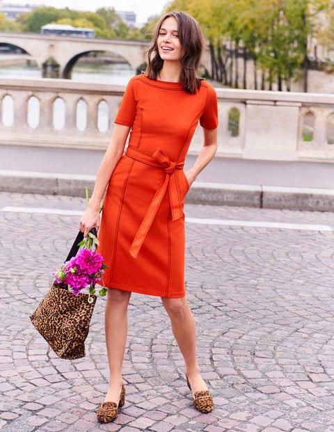Rebecca Ponte Shift Dress - Orange Sunset