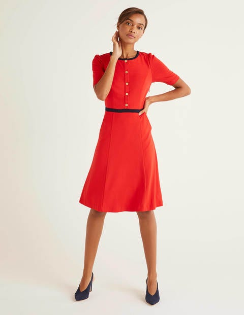 Vintage Style Dresses | Vintage Inspired Dresses Maria Ponte Dress Red Women Boden Navy £32.00 AT vintagedancer.com
