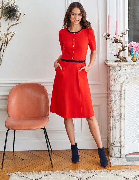 Maria Ponte Dress - Post Box Red