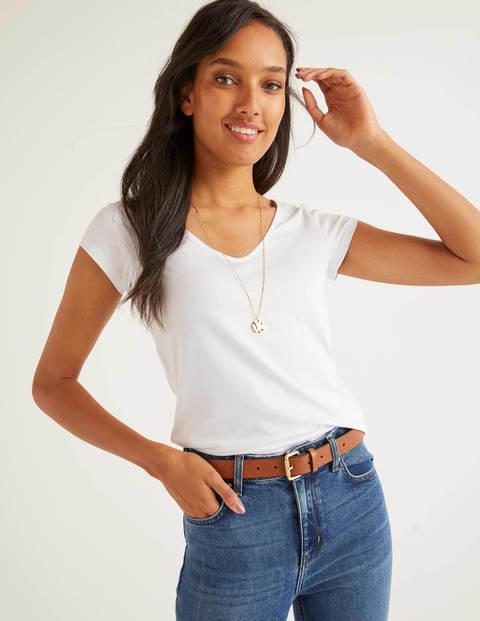 Superweiches T-Shirt Mit Flügelärmeln - Weiß