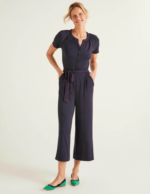 Edith Jersey-Jumpsuit - Navy