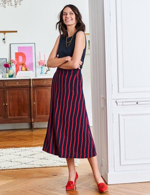 Jersey Midi Skirt - Navy, Wiggle