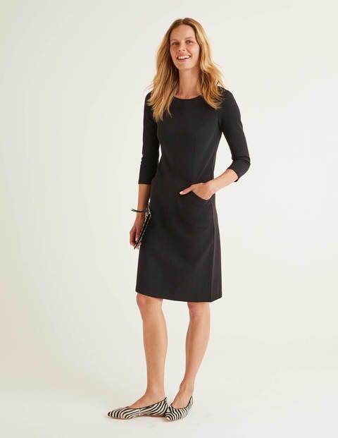 Ellen Ottoman Dress - Black