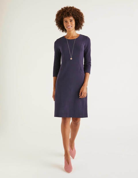 Ellen Ottoman Dress - Navy