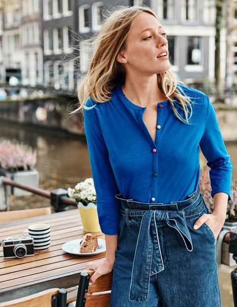 Sasha Jersey Shirt - Bold Blue