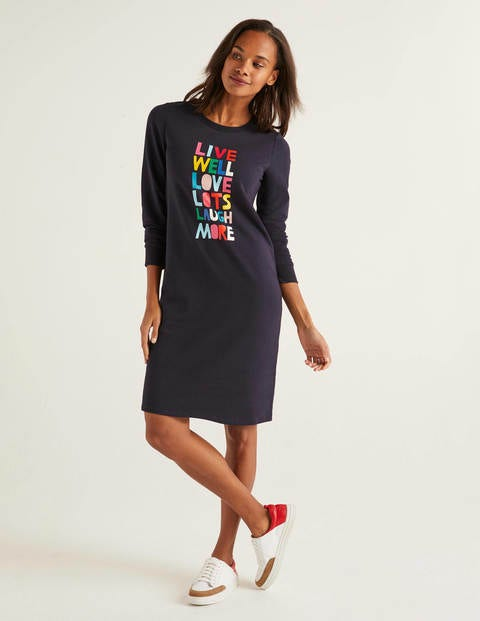 Rib Cuff Sweatshirt Dress