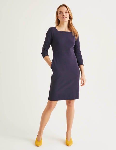 Katrina Ottoman Dress - Navy