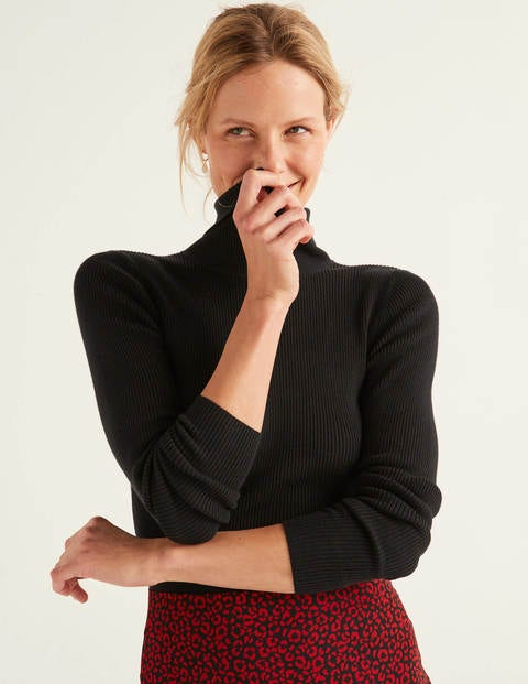 Tilly Roll Neck Sweater - Black