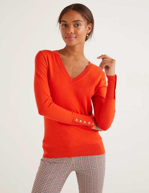 Eldon Cotton V-neck Jumper