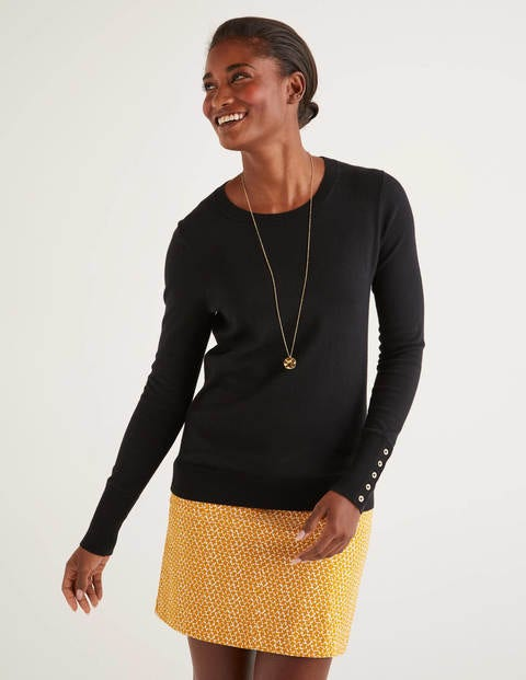 Eldon Cotton Jumper - Black