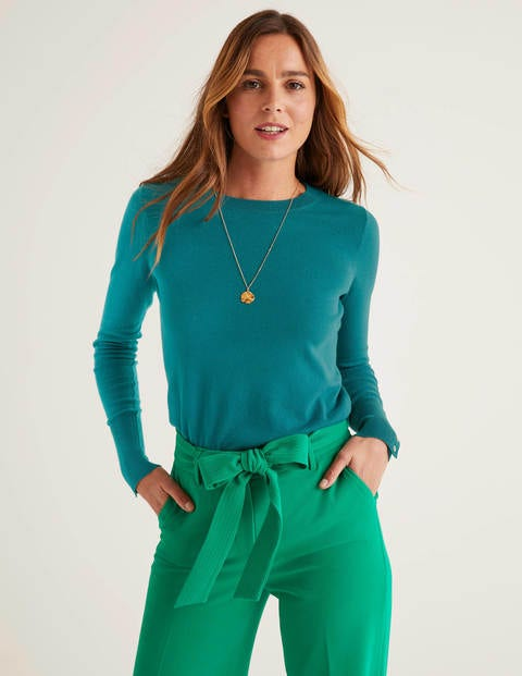 Eldon Cotton Jumper - Rich Turquoise