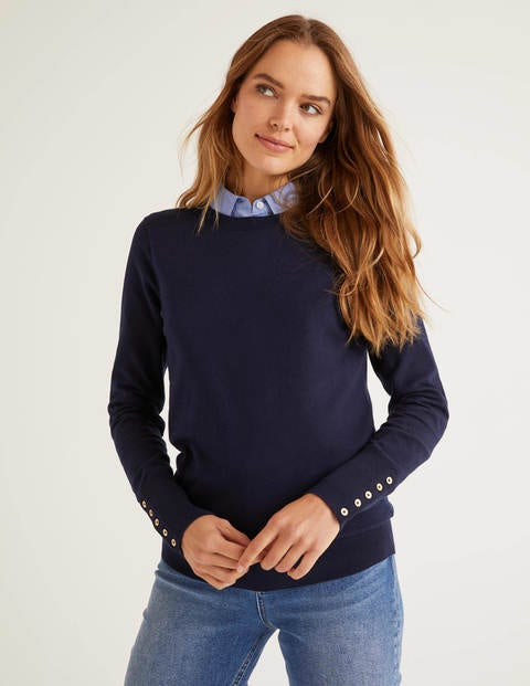 Eldon Cotton Jumper - Navy