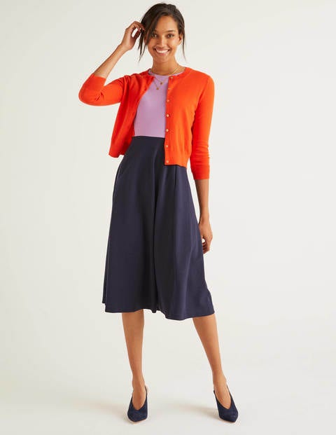 Eldon Cotton Crop Cardigan - Orange Sunset