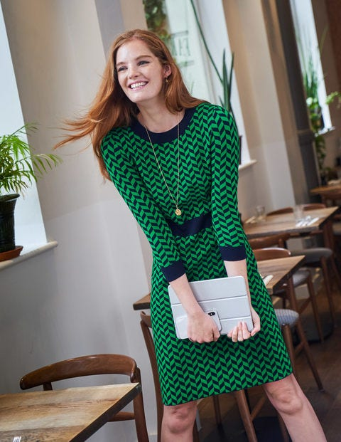 Phoebe Knitted Dress - Rich Emerald