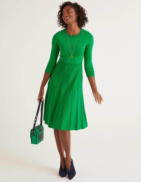 Lorna Knitted Dress - Rich Emerald