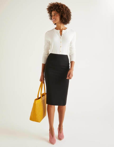 Hampshire Ponte Skirt - Black