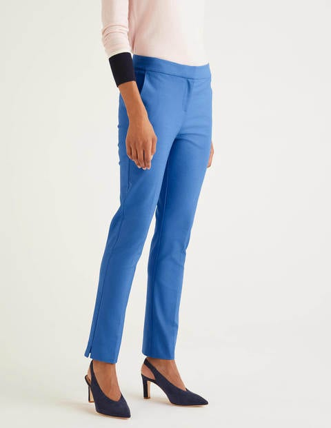 Blue Richmond 7/8 Cropped Trousers - Sky Blue