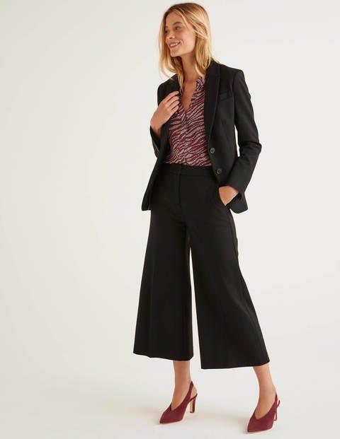 Jupe-culotte Hamsphire en point de Rome - Noir
