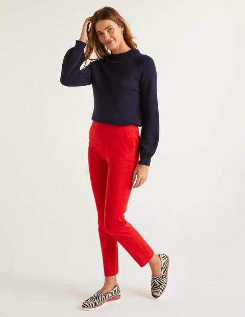 Bath Bi-Stretch 7/8 Trousers - Postbox Red
