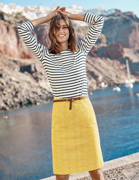Daisy Chino Skirt - Tuscan Sun, Daisy Bud