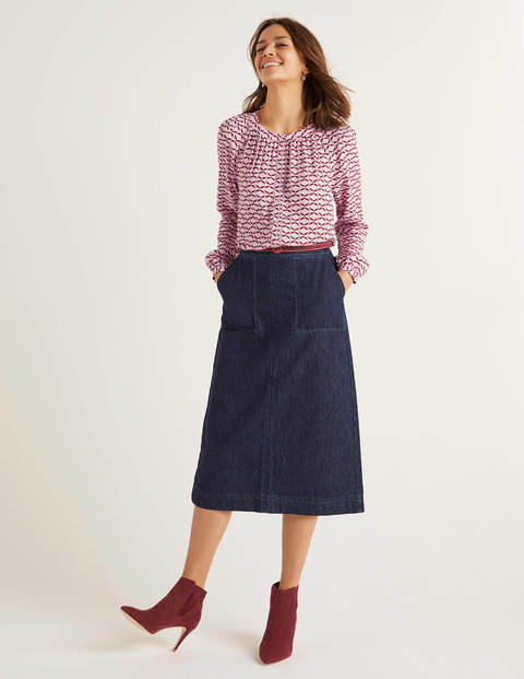 Dalloway Midi Skirt - Indigo