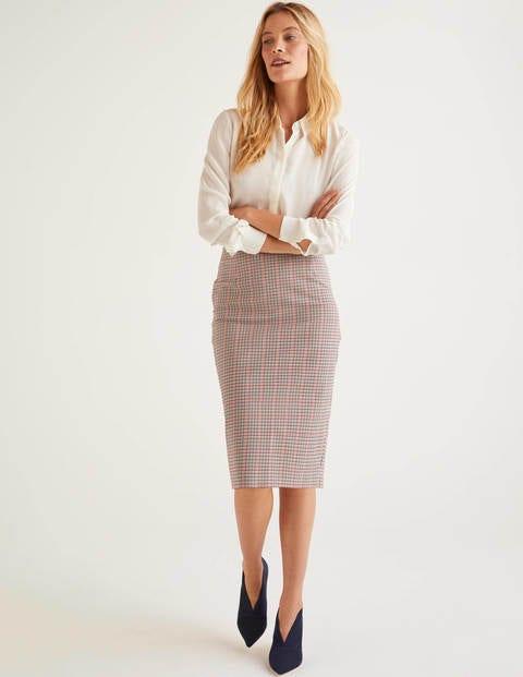 Kensington Pencil Skirt - Check