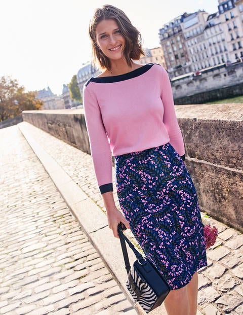 Kensington Pencil Skirt - Floral Print
