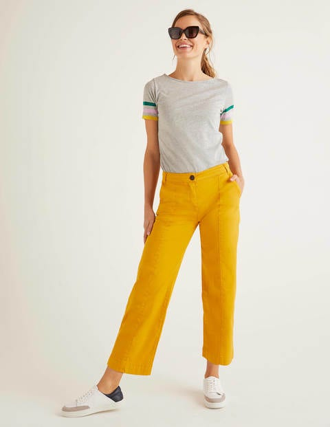 Daisy Cropped Chino Trousers - Tuscan Sun