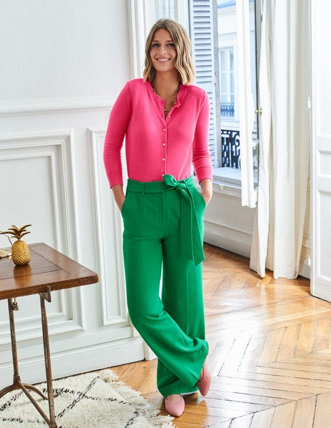 Hampstead Wide Leg Trousers - Emerald Green