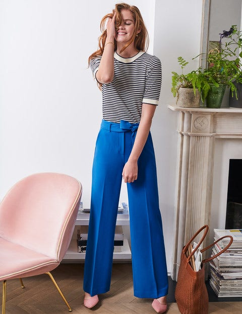 Hampstead Wide Leg Trousers - Bold Blue
